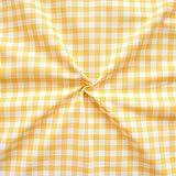 Baumwollstoff Züchen Meterware Vichy Karo Gelb-Weiss