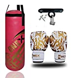Junior 2ft Punching Bag Kick Boxing Girls Gift Martial Arts Training Set Pink
