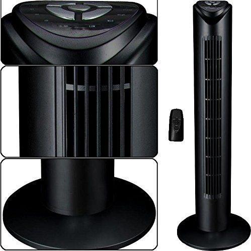Syntrox Germany Turmventilator Tower Ventilator mit Fernbedienung, 7,5 Stunden Timer und Oszillation Standventilator Säulenventilator Windmaschine Lüfter Gebläse