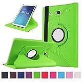 Samsung Galaxy Tab E 9.6 Coque,Flip Case Cover Avec Stand Étui en PU Cuir Rotative 360 degrés Housse de Protection pour Samsung Galaxy Tab E 9.6 Pouces SM-T560 / T561 Coque en Cuir Protecteur (Vert)