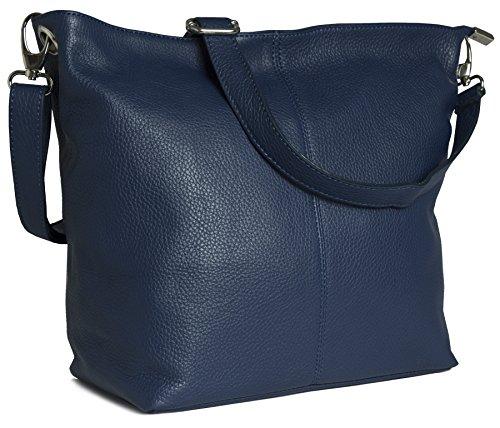 Genuine Italian Soft Grained Leather Cross Body Hobo Shoulder Slouch Bag Handbag With Cotton Like Lining Medium Size