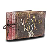 Our Adventure Book Photo Album Scrapbook DIY Handmade Album Scrapbook Movie Up Travel Scrapbook for Anniversary Wedding Travelling