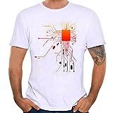 Homebaby Camicia Uomo Donna Elegante Maglietta Manica Corta Casual - Stampa T-Shirt Uomo Vintage Stretch Maglione Cotone Uomo Tumblr Estiva Particolari Magliette Corte (S, Bianco)