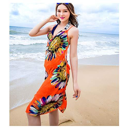 Umily Tiefes V Sleeveless dünnes rückseitiges Kleid Dame kleidet Sommer-Strand-Kleid-Bikini-Abdeckungs-Bad-Kleid