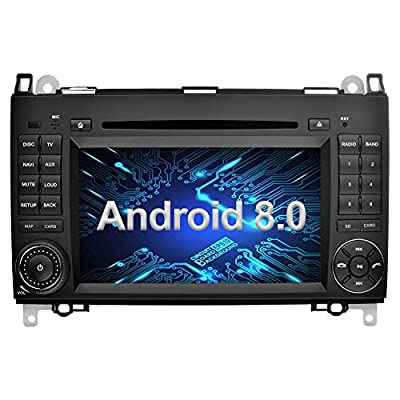 Ohok Autoradio Android 8.0 GPS 2 Din pour Mercedes-Benz A-Class/Classe B/Viano/Vito/Sprinter Oreo Octa Core Stéréo 4G+32G Sat Nav avec Lecteur DVD Supporte Bluetooth WLAN Dab+ SWC OBD2,7 Pouces de Shenzhen Aipuxilong Technology Co.,LTD