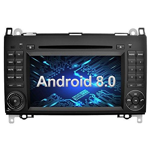Ohok 7 Zoll Bildschirm 2 Din Autoradio Android 8.0.0 Oreo Octa Core 4G+32G Radio mit Navi Moniceiver DVD GPS Navigation Unterstützt Bluetooth DAB+ für Mercedes-Benz A-class/B-class/Viano/Vito/Sprinter - Benz Verstärker Mercedes