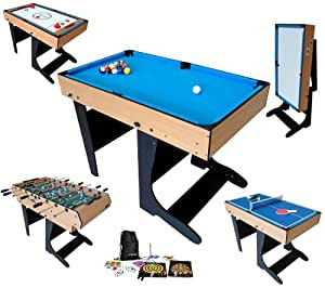 billard table multi jeux 21 en 1 pliable riley amazon. Black Bedroom Furniture Sets. Home Design Ideas