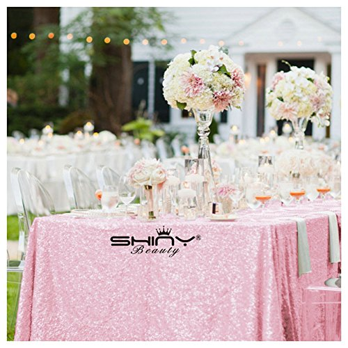 del von Pailletten Tischdecke pink 60x 120gold Hochzeit Set Pailletten Tischdecke (Halloween-dekoration Großhandel Preise)