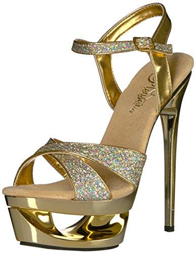 Pleaser, Sandali donna, Oro (oro), 4 UK G / 37 EU / 7 US