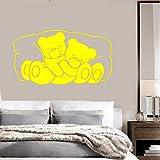 zqyjhkou Ours pour Enfants Animal Stickers Muraux Vinyle Decal pour Chambre Chambre Pépinière Sticker Mural Belle Animal Mural pour Enfants Chambre 3 57X89cm