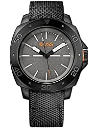 Hugo Boss Herren-Armbanduhr XL Analog Quarz Textil 1513067