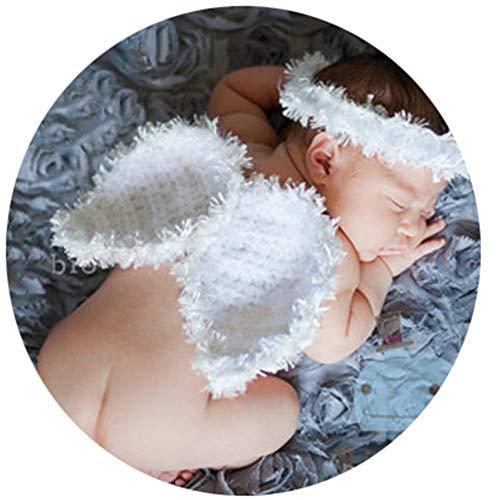 Kostüm Boy Engel - Baby Girl/Boy Fotografie Kostüm Baby Mädchen Jungen Neugeborenen Engel Federflügel Fotografie Requisiten Stirnband (Farbe : Weiß, Größe : S)