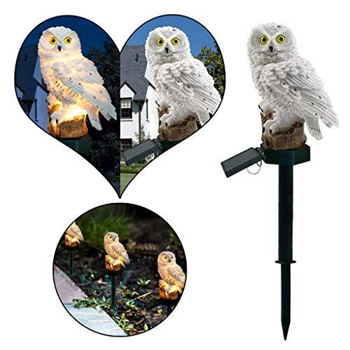 NEU!1 Stück Solar 3D Eulen Landschaft Lichter - 2019 LED-Gartenlichter Solar Nachtlichter Owl Shape Solar-Powered Rasenlampe Amhomely® (1PC-B) - 1 Licht Landschaft Licht