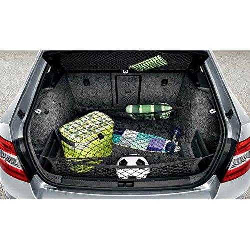 Preisvergleich Produktbild Skoda 5E0017700A Gepäcknetz Gepäckraumnetz Ladungssicherung Ladenetz 3-teilig schwarz
