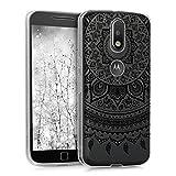 kwmobile Motorola Moto G4 / Moto G4 Plus Hülle - Handyhülle für Motorola Moto G4 / Moto G4 Plus - Handy Case in Schwarz Transparent