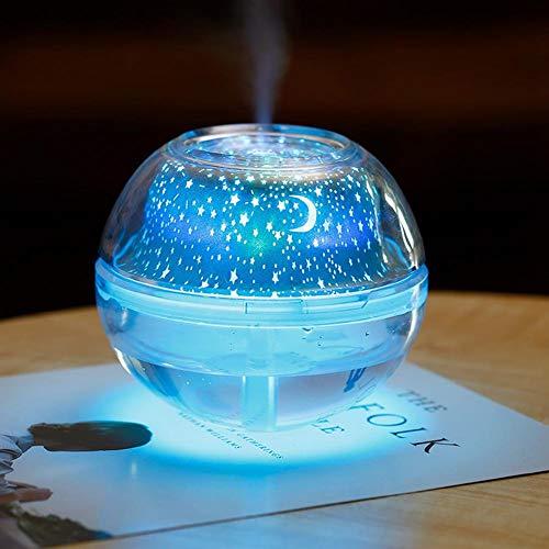 QAQWER Aroma Diffuser, LED Projektor Luftbefeuchter Kristall 500Ml USB Universum Nachtlicht Luftbefeuchter Für Schlafzimmer