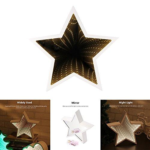 OurLeeme kreatives 3D-LED-Lichterkette, Nachtlicht, niedlich, für das Babyzimmer, Dekoration Pentagram