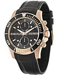 Sector Herren-Armbanduhr Analog Quarz Leder R3251577004