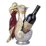 Cxmm Artículos de Cocina Decoración para el hogar Figuras Miniaturas Belleza Botella de Vino Estante de Vino Titular de Vino Decoración Adornos