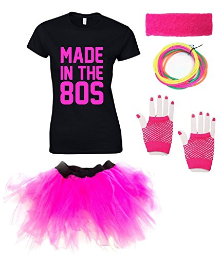 Ladies Made in the 80s T-shirt Outfit. 8 to 18