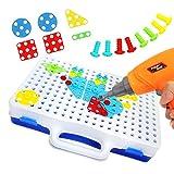 Ysy Giocattoli per Bambini DIY Variety Insert Blocks Electric Drill Assemblato Applicabile A 3 Anni O più. Early Learning Puzzle Fun,Electric