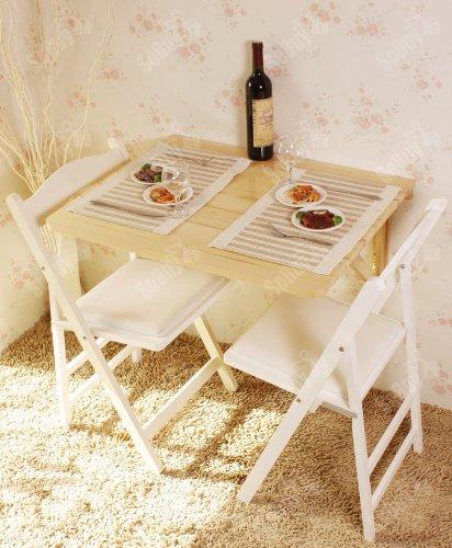 Sobuy tavolo da muro pieghevole in legno 75 60cm con due supporti naturale fwt05 n it - Tavolo da muro pieghevole ...