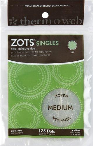 Preisvergleich Produktbild Thermoweb 343518 Zots Singles Klar Klebepunkte-Medium 3-8 in. x 1-64 mm dick 175-Pkg