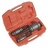 Sealey VS1668 - Set di 3 espansori allargatubi per tubi di scappamento, in cassetta di plastica con inserti