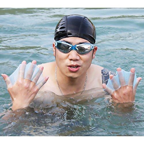 BeesClover 1 Paar Silikon-Schwimmflossen für Schwimmausrüstung, Handgewebt, Schwimmflossen