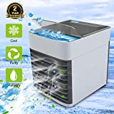 Mini condizionatore portatile | Condizionatore portatile | 4 in 1 Refrigeratore d'aria | 2 Timer 3 Potenza Eolica | 7 Colori, Blu
