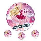 Tortenaufleger Fototorte Oblate Tortenbild Geburtstag eßbar Motiv: Barbie (Zuckerpapier)
