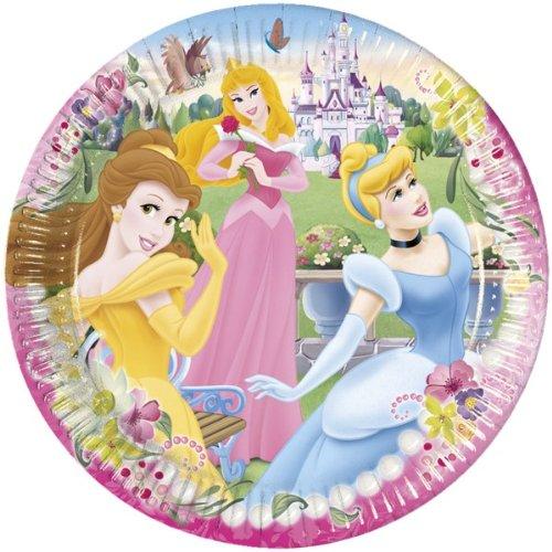 10 Teller Geburtstag Party Set Rosa Pink Disney Princess Prinzessin Birthday Teller 10
