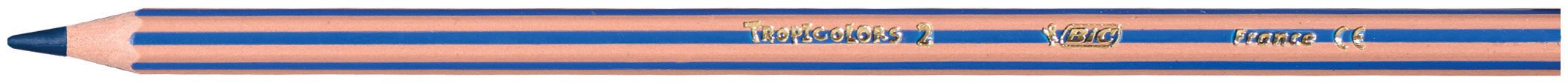 BIC KiDS lápices de colores Tropicolors 2, varios colores, estuche de cartón 12er Kartonetui