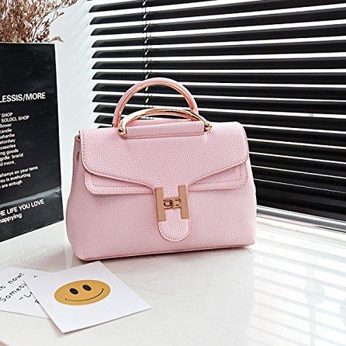 Mädchen Umhängetasche Retro Elegant Kreativ Beliebt Handytasche Einkaufen Wildtasche Pink