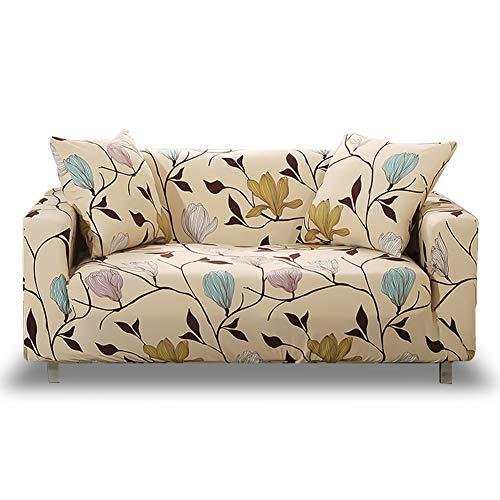 HOTNIU Funda Elástica de Sofá Funda Estampada para sofá Antideslizante Protector Cubierta de Muebles (Dos Plazas, Modelo_MLK)
