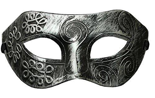 Inception Pro Infinite Maske - Antik Silber Farbe - Karneval - Halloween - Venetian - Mann - Frauen - Unisex - Metallic-Effekt - Flexibel - Esoterik (Mann Märchen Kostüm)