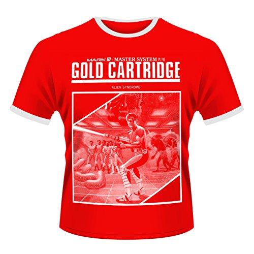 Sega Herren T-Shirt Gold Cartridge Rot - Rot