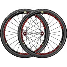 Mavic  Crossmax Elite - Ruedas de bicicleta 27.5 WTS , color rojo y negro, talla 2.25, 2 unidades