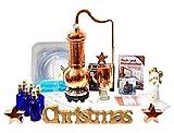 Limitiertes Weihnachts-Spezial ❀ CopperGarden® Destille Essence Plus ❀ 2 Liter ❀ Sorgenfrei Vollausstattung mit viel Extra Zubehör ❀ nur im Dezember lieferbar