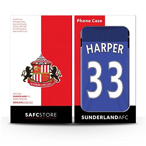 Offiziell Sunderland AFC Hülle / Case für Apple iPhone 7 / Rodwell Muster / SAFC Trikot Home 15/16 Kollektion Harper