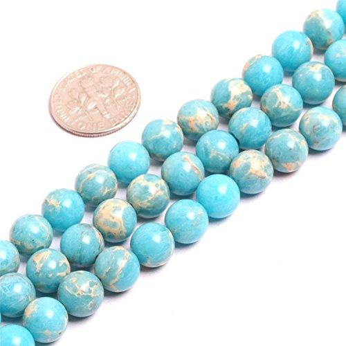 SHG-Shop Perlen Herrliche Crazy Lace Achat-Edelstein Runde Lose Korn Approxi 15 inch Pro Strang Für Schmuckherstellung(8mm, Ozean Blau) - Ozean-blau-korn