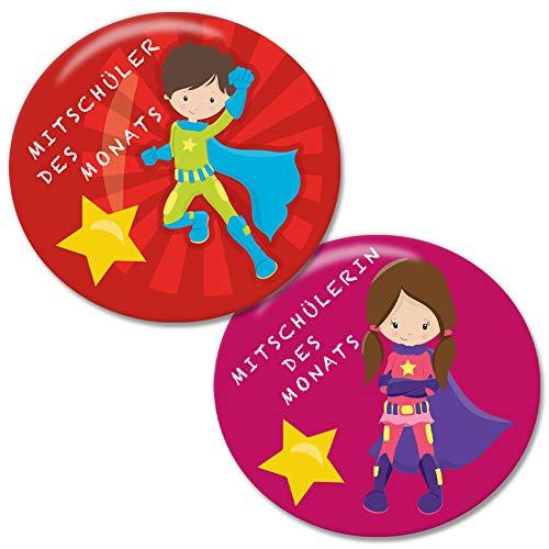 Polarkind 2 Set große Button als Lobkärtchen Belohnungskärtchen Motivationskärtchen nachhaltige Alternative pädagogische Auszeichnung für Schüler Kinder