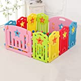 Baby Playpen For Girls Boy 10 Panel Home Interior Exterior Plastic Multicolor Safety Play Center...