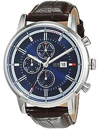 Reloj para hombre Tommy Hilfiger 1791244, mecanismo de cuarzo, diseño con varias esferas, correa de piel.