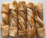 5'' Rohleder Deli Knochen Twist Stäbe Mango (Packung mit 5 Stück)