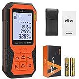 ALLROS Laser Entfernungsmesser 60M Distanzmessgerät mit 2 Zoll LCD Display (Messgenauigkeit ±2mm mit M/In/Ft, 30 Gruppen Datenspeicher,Staub- und Spritzwasserschutz IP 54) (60M)