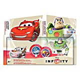 Disney Infinity TRU Exclusive Race to Space Pack with Crystal Lightning McQueen, Buzz Lightyear with C.H.R.O.M.E. Damage