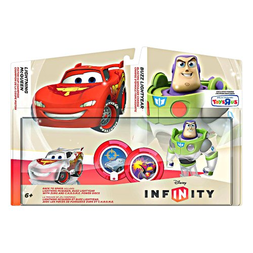 Disney Infinity TRU Exclusive Race to Space Pack with Crystal Lightning McQueen,...