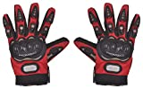 #4: Romic Leather Motorcycle Full Gloves (Red, XXL)