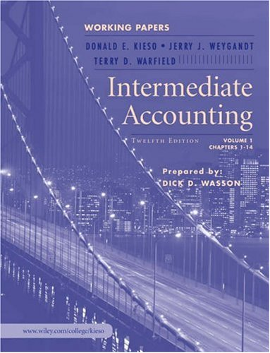 Intermediate Accounting: Volume 1: Chapters 1-14